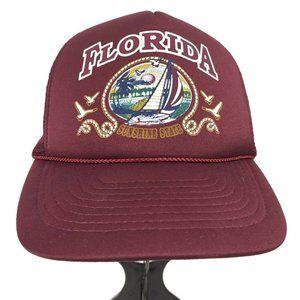 Vintage Florida Sunshine State Snapback Hat Cap